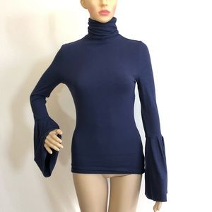 Paige Kenzie Bell Sleeve Turtleneck